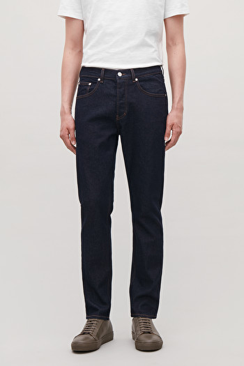 COS SLIM LEG JEANS,Raw dark blue