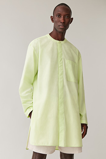 COS OVERSIZED COTTON TUNIC,Lime green