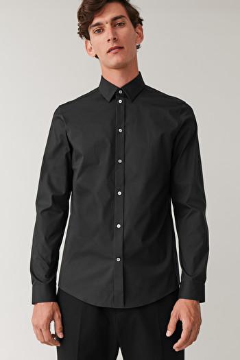 코스 맨 셔츠 COS CLASSIC SLIM FIT SHIRT,Black
