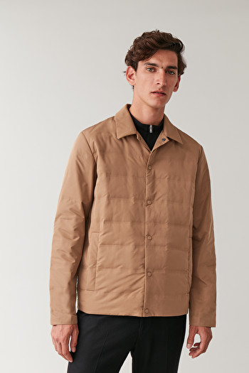 COS LIGHT PADDED JACKET,Camel
