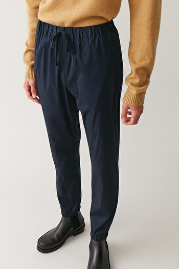 COS RELAXED ELASTICATED TROUSERS,Navy