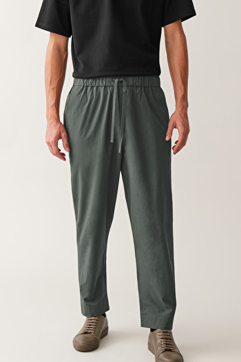 COS OVERSIZED LIGHTWEIGHT TROUSERS,Grey
