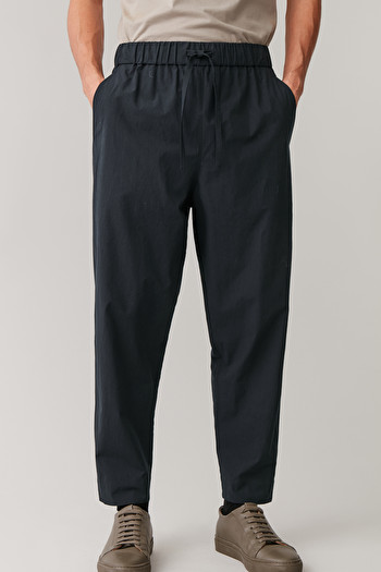 COS OVERSIZED LIGHTWEIGHT TROUSERS,Navy
