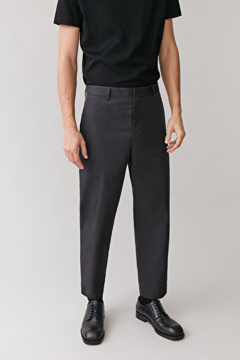 COS TECHNICAL LIGHTWEIGHT TROUSERS,Charcoal