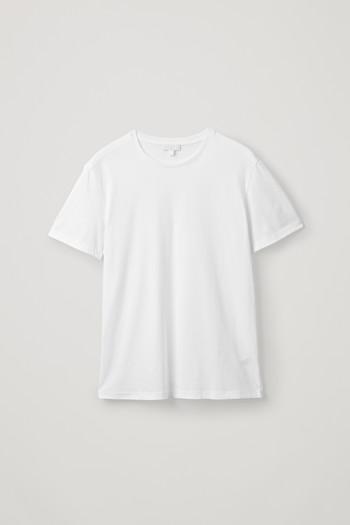 코스 맨 라운드넥 티셔츠 COS ROUND-NECK T-SHIRT,White