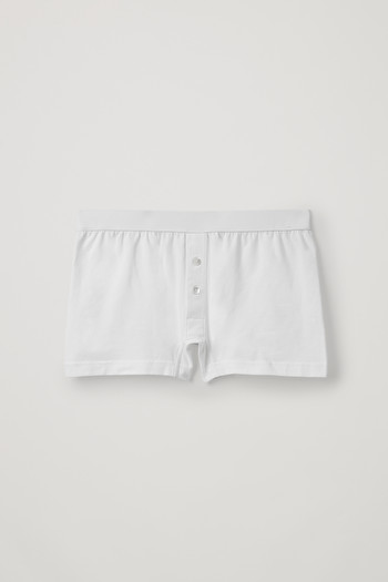 코스 COS COTTON-JERSEY BOXER BRIEFS,White
