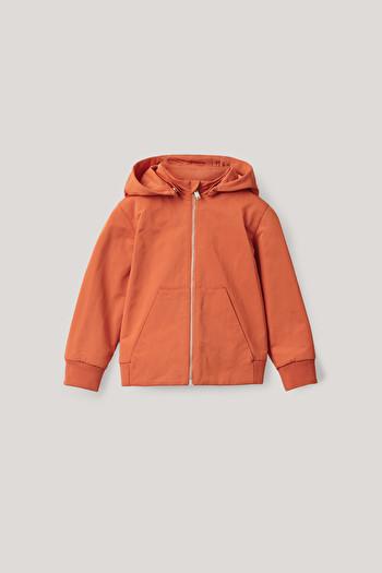 코스 자켓 COS PADDED HOODED JACKET,orange