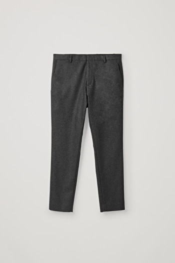 COS CLASSIC WOOL-CASHMERE TROUSERS,grey