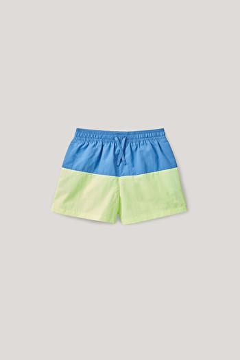 COS 보이즈 컬러블록 수영복 하의 COLOR-BLOCK SWIM SHORTS,Blue  lime green