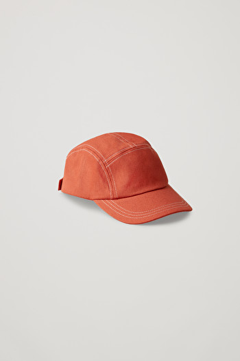 COS CAP WITH PATCH POCKET,Orange  White