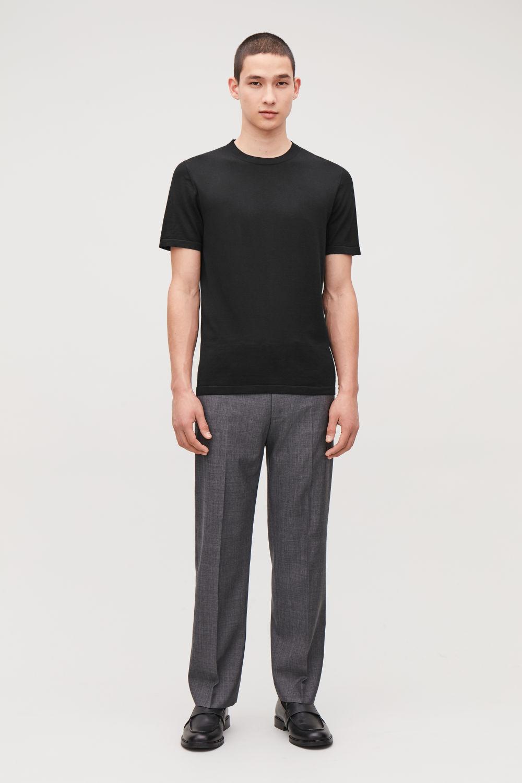 코스 맨 반팔 티셔츠 COS KNITTED SILK-COTTON T-SHIRT
