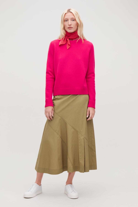 코스 캐시미어 라운드넥 스웨터 핑크 COS ROUND-NECK CASHMERE JUMPER