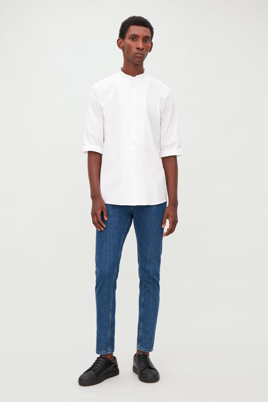 코스 COS SLIM LEG JEANS,Mid blue
