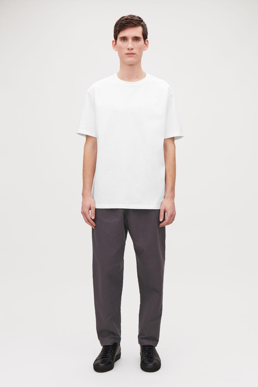 코스 맨 반팔 티셔츠 COS LONG COTTON T-SHIRT,White