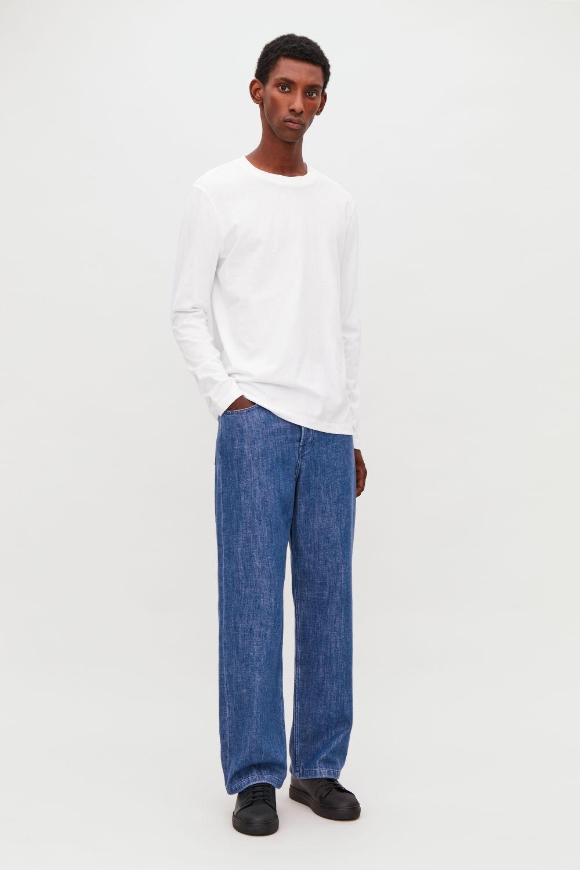 코스 COS WIDE LEG JEANS,Mid blue