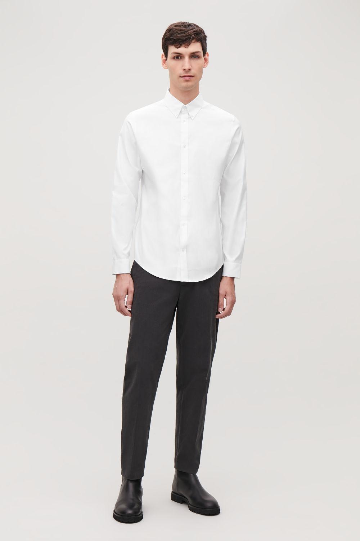 코스 맨 옥스포드 셔츠 COS STRETCH-COTTON OXFORD SHIRT,White