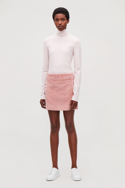 코스 COS SHORT CORDUROY SKIRT,Pink