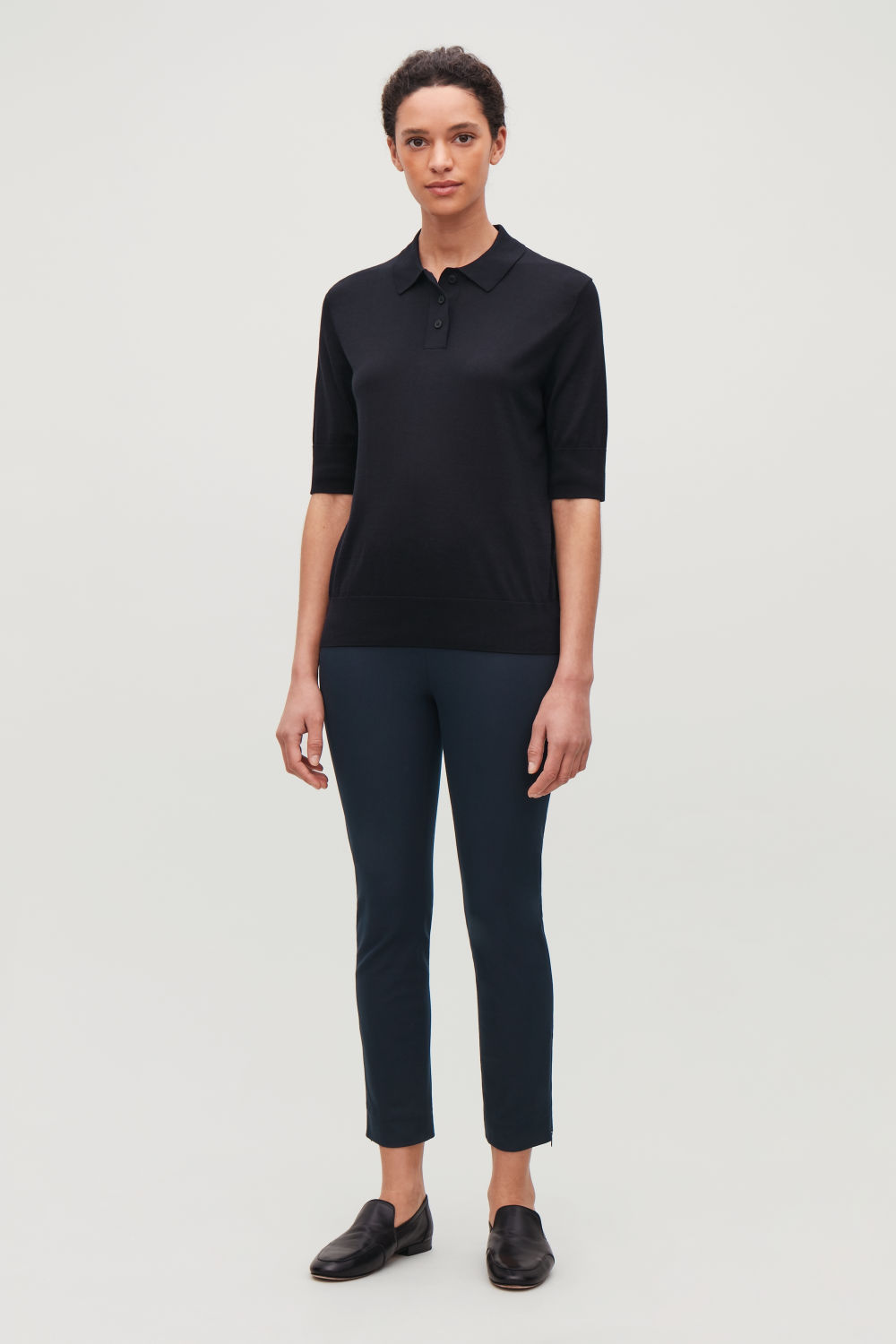 코스 COS SKINNY LEGGING TROUSERS,Navy