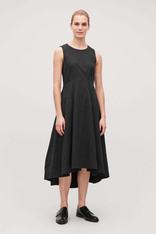 코스 웨이스티드 원피스 위드 플리츠 코스 COS WAISTED DRESS WITH PLEATS,Black