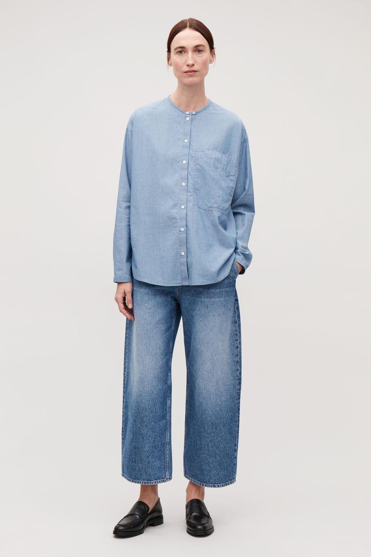 코스 COS BARREL LEG JEANS,Vintage blue