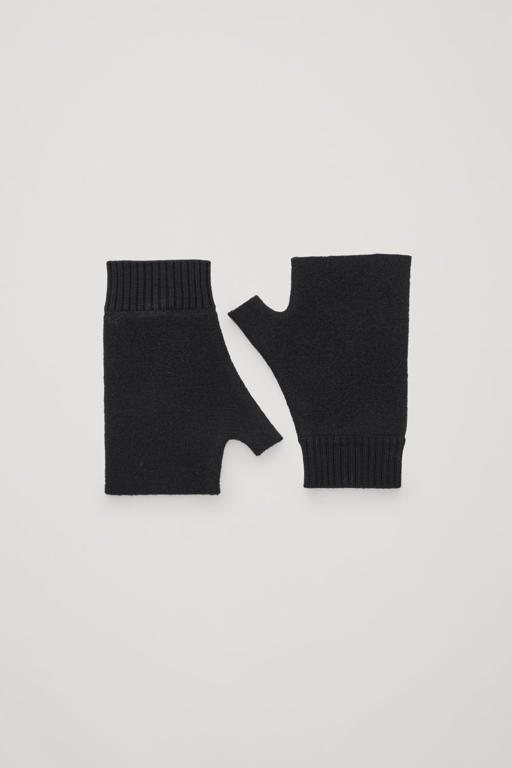 코스 COS MERINO FINGERLESS GLOVES,Black