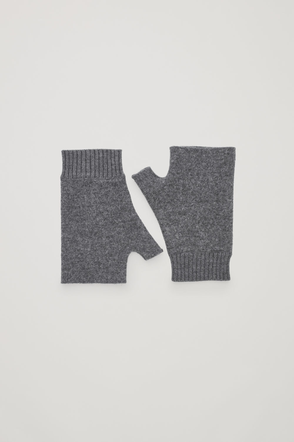 코스 COS MERINO FINGERLESS GLOVES,Dark grey