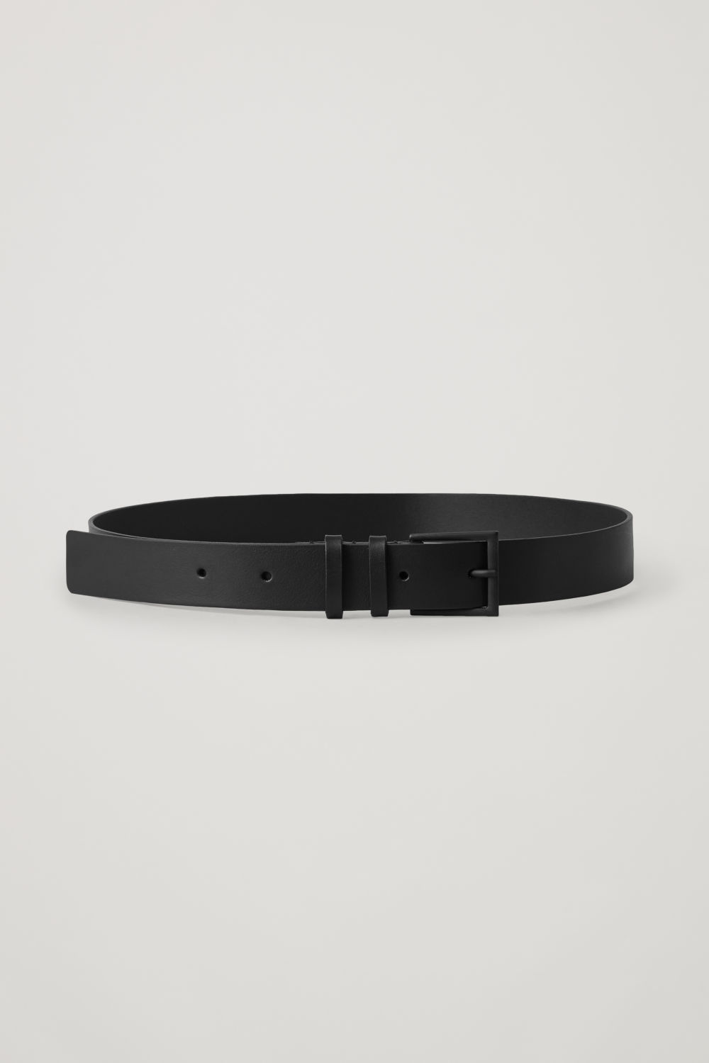 코스 COS CLASSIC LEATHER BELT,Black