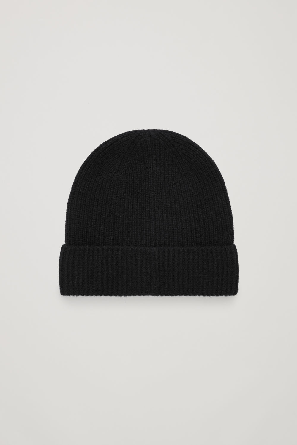 코스 COS KNITTED CASHMERE HAT,Black