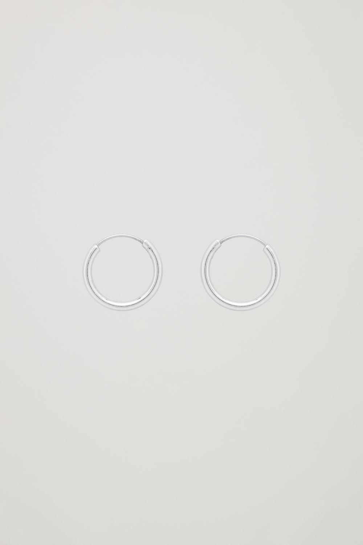 코스 COS SMALL HOOP EARRINGS,Silver