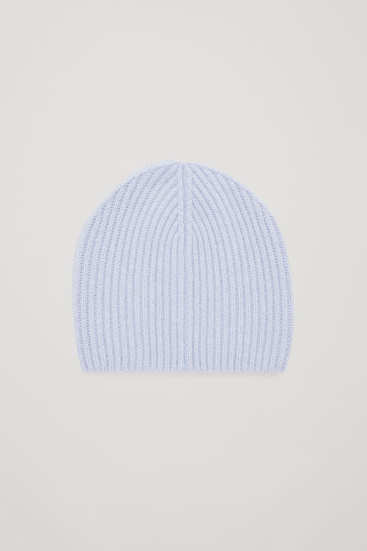 코스 COS RIBBED CASHMERE HAT,Lavender