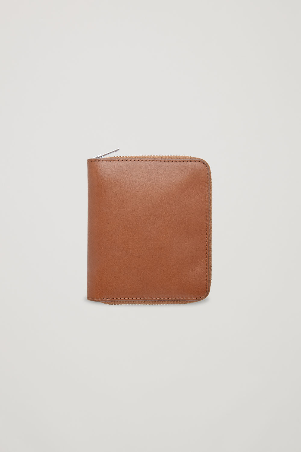 코스 COS LEATHER ZIP WALLET,Tan