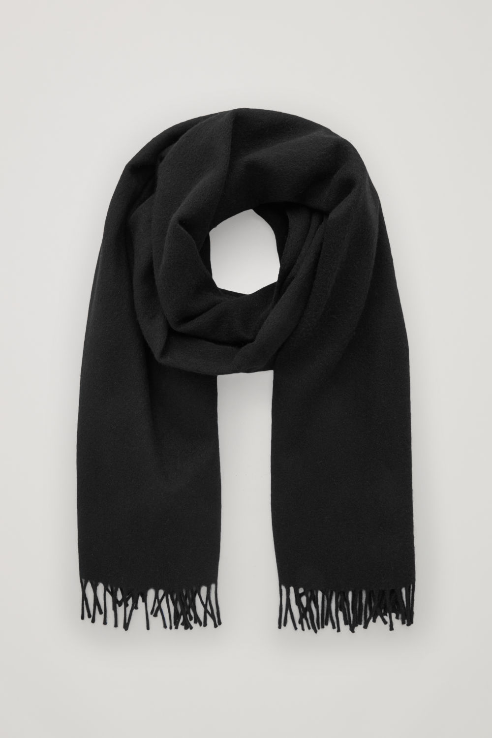 코스 COS WOOL-CASHMERE SCARF,Black