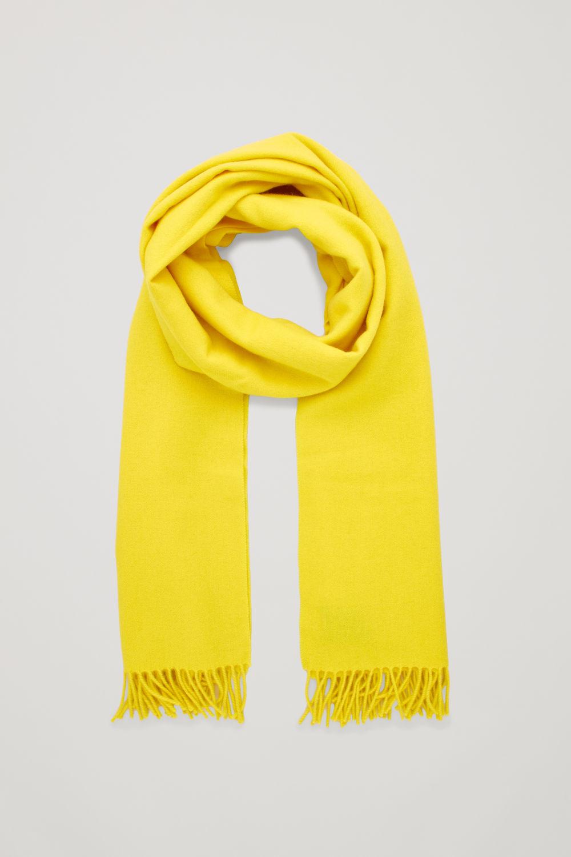코스 COS WOOL-CASHMERE SCARF,Vibrant yellow