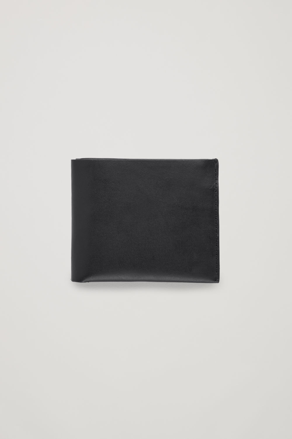 코스 COS FOLDED LEATHER WALLET,Black