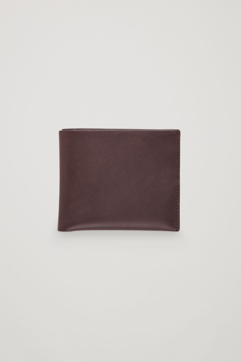 코스 COS FOLDED LEATHER WALLET,Brown