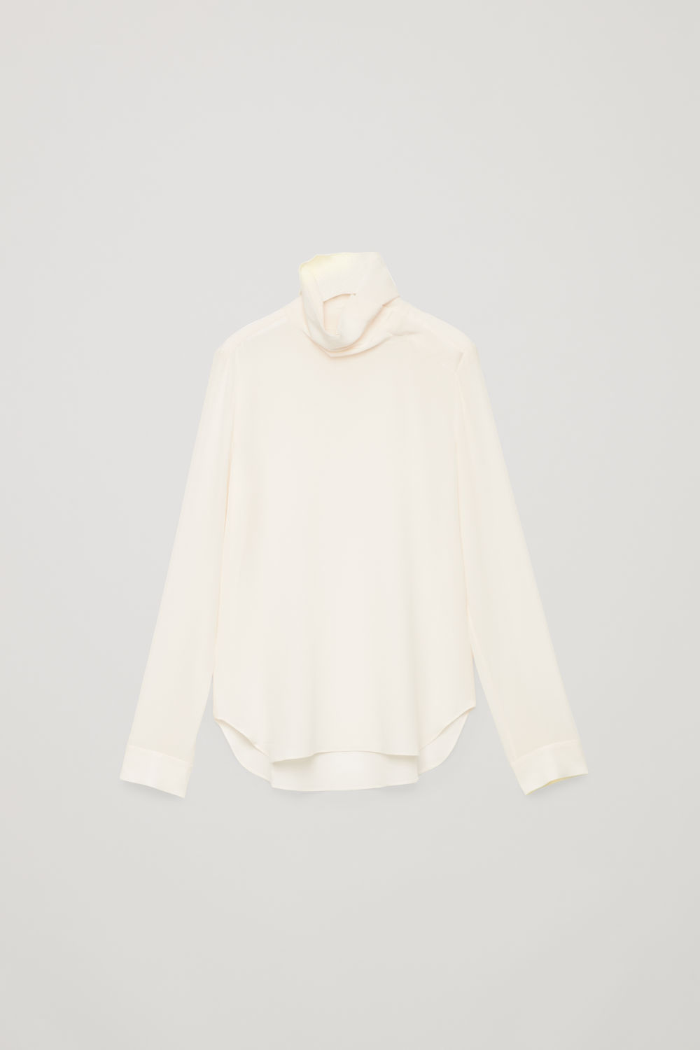 코스 실크 블라우스 COS HIGH-NECK SILK BLOUSE,Cream