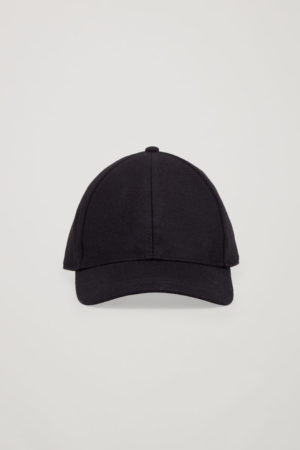 코스 COS WOOL BASEBALL CAP,Black