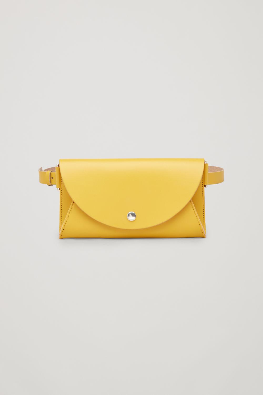 코스 COS DETACHABLE LEATHER BELT BAG,Yellow