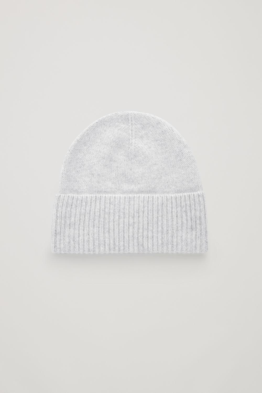 코스 COS SPECKLED CASHMERE HAT,Light grey melange