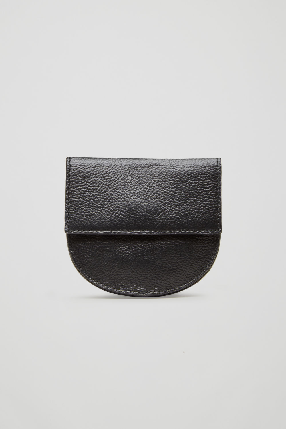 HALF-MOON LEATHER PURSE
