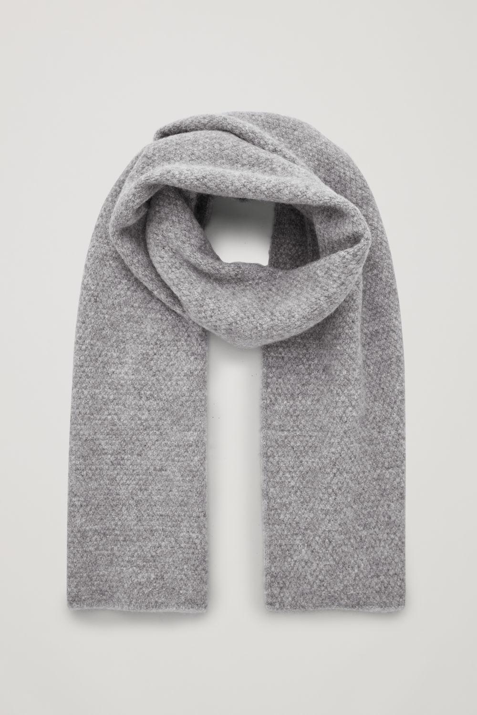 코스 COS ALPACA-WOOL SCARF,Light Grey