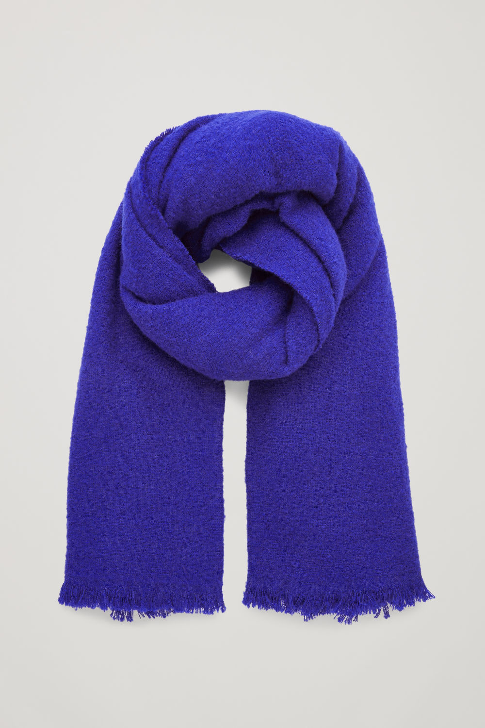 코스 COS WOOL BLANKET SCARF,Electric blue