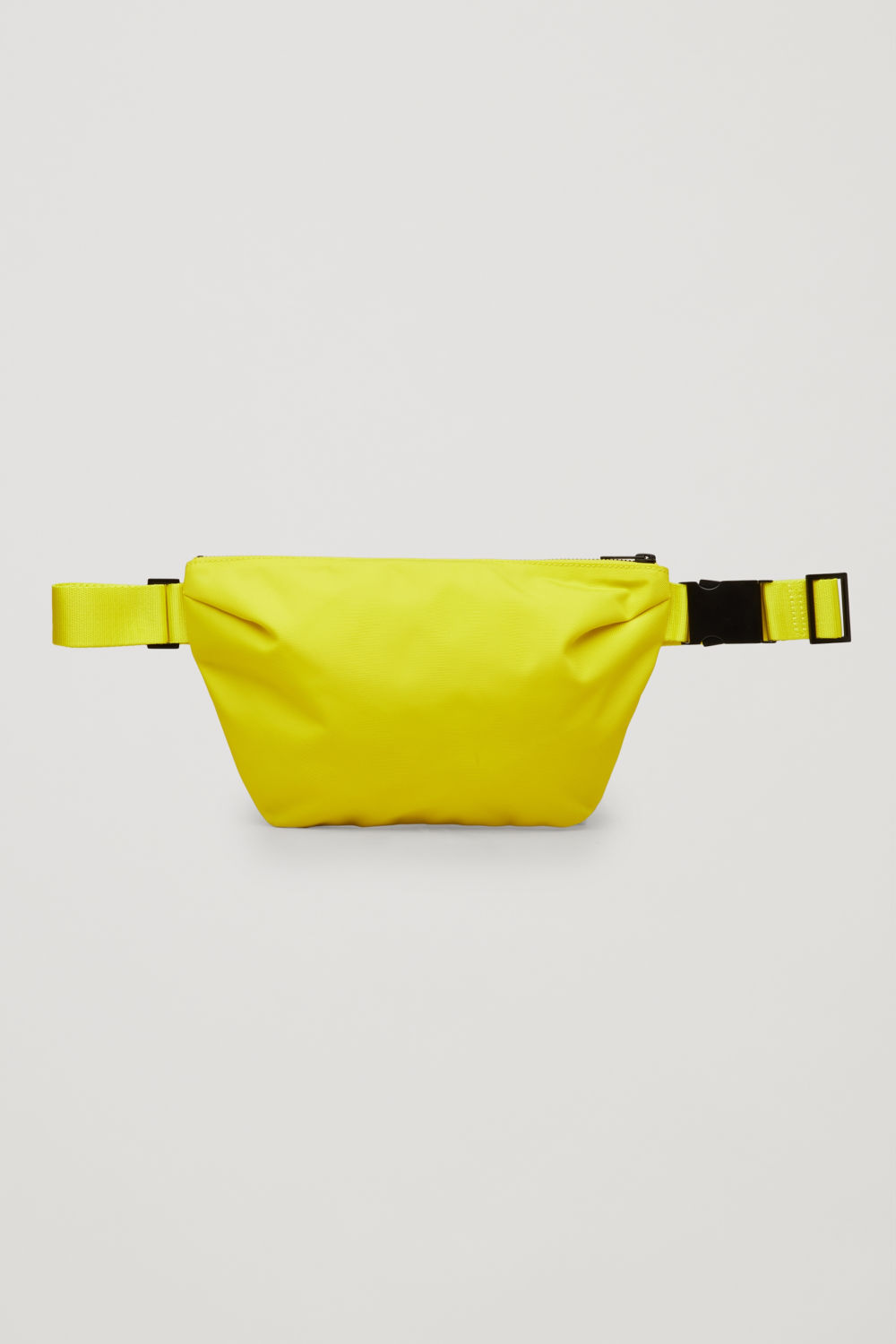 코스 COS ZIP-UP BELT BAG,Acid yellow