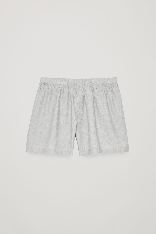코스 맨 언더웨어 하의 COS  COTTON CHAMBRAY BOXERS,Light grey