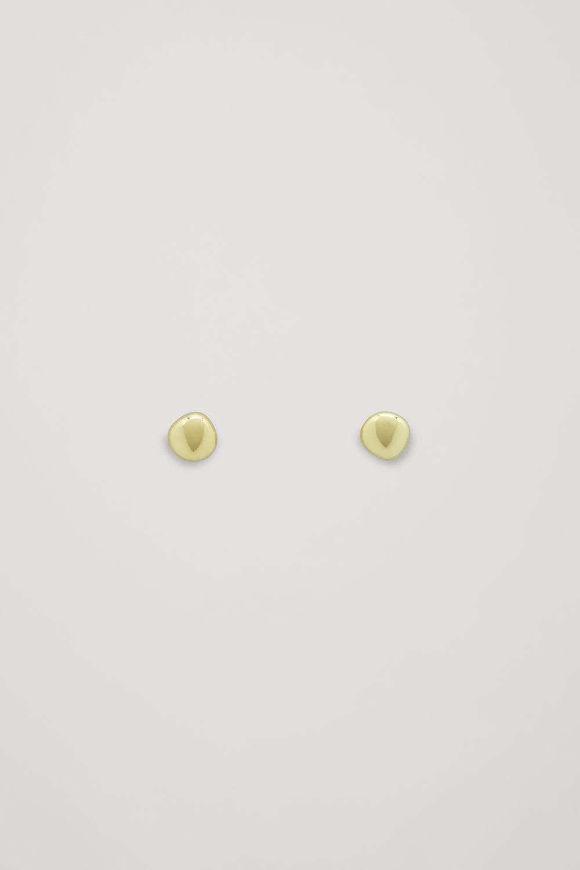 코스 COS ABSTRACT STUD EARRINGS,Gold