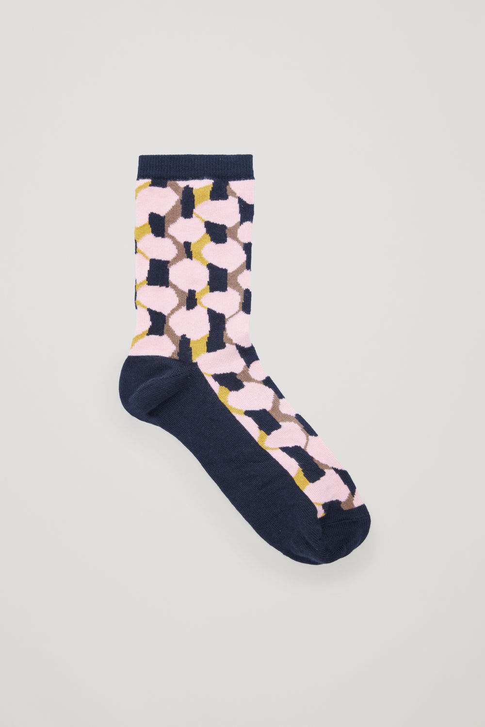 코스 양말 COS PRINTED COTTON SOCKS,Yellow \/ Pink