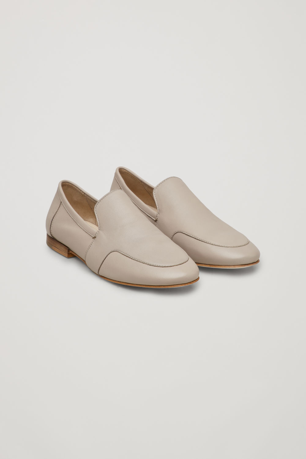 코스 COS SOFT LOAFERS,Light taupe