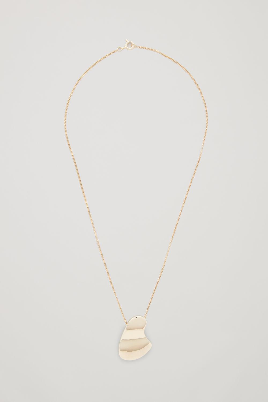 코스 COS SHORT GOLD-PLATED NECKLACE,Gold