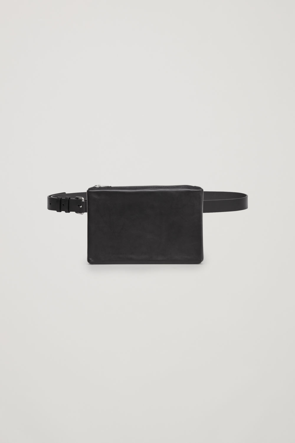 코스 COS DETACHABLE LEATHER BELT BAG,Black