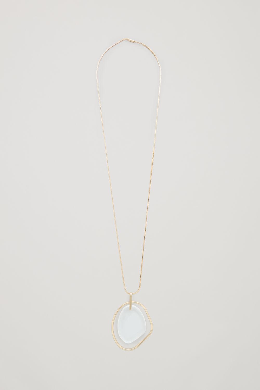 코스 COS LONG GLASS PENDANT NECKLACE,Gold